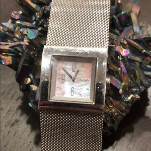 DKNY mother of pearl watch